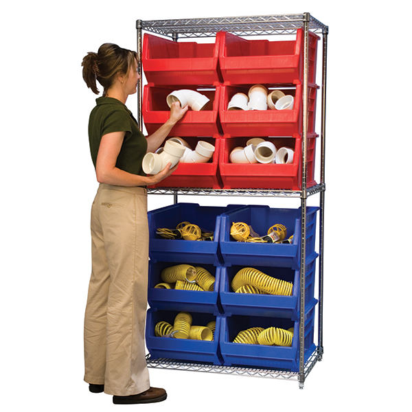 Super Size AkroBin Wire Shelving Package