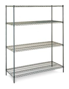 Olympic Green Epoxy Wire Shelving