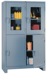 1120-4DV Clear View Storage Cabinet 4-Door | Lyon Shelving and Workspace Products from Steel Shelving USA