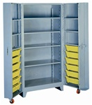 1127 Deep Door Cabinet with Tilt-Bins | Lyon Shelving and Workspace Products from Steel Shelving USA