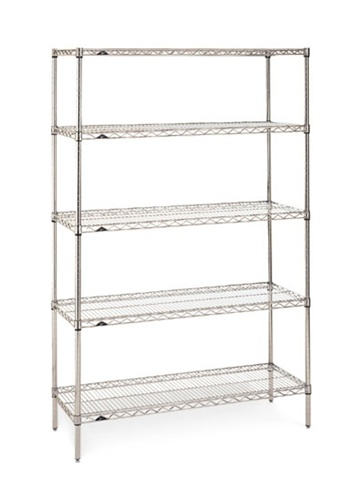 2448ns metro stainless steel wire shelf metro shelving. Black Bedroom Furniture Sets. Home Design Ideas