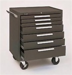 Model 297 7 Drawer Roller Cabinet | Kennedy Cabinets and Drawers from Steel Shelving USA