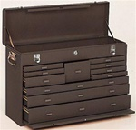 Model 52611 11 Drawer Machinist's Chest | Kennedy Cabinets and Drawers from Steel Shelving USA