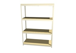 "B7224DR47 Boltless Shelving 72""Wx24""Dx7'High with 4 Levels 
