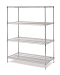 "J2436-74C Chrome Wire Shelving Unit 74""High 