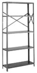 OAB85-3048-5L Tri-Boro Open Style Add-On Unit | Tri-Boro Shelving from Steel Shelving USA