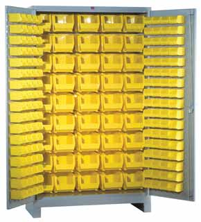 Lyon All Welded Storage Cabinets with Bins   Bin Storage Cabinets ...