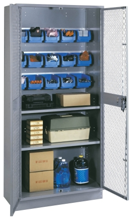 Visible Storage Cabinet with Bins