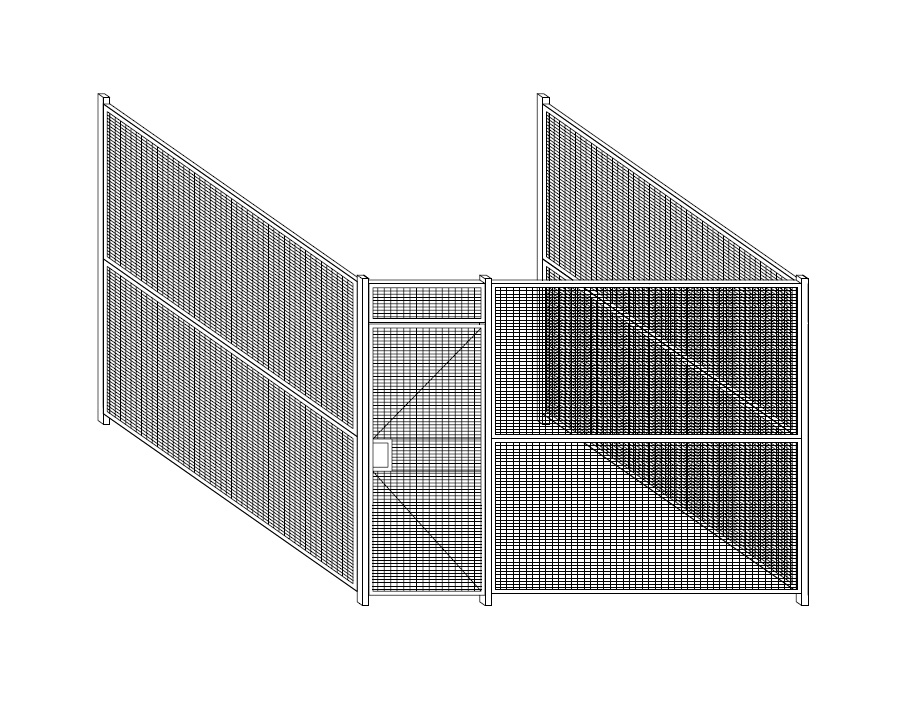 3-Sided Security Cages and Partitions by WireCrafters