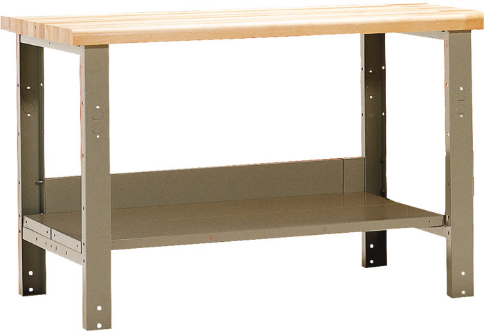 workbench with lower shelf