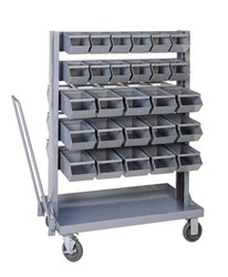 Small Mobile Bin Unit w/ 54 Bins