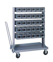 Small Mobile Bin Unit w/ 60 Bins