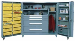 All Welded Cabinet with Modular Drawers and Tilt-Bins