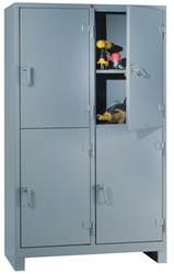 1120-4D Heavy Duty Storage Cabinet 4-Door | Lyon Shelving and Workspace Products from Steel Shelving USA
