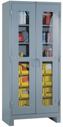 1123V Heavy Duty Clear View Cabinet with Bins | Lyon Shelving and Workspace Products from Steel Shelving USA