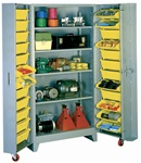 1125 Deep Door Cabinet with Tilt-Bins | Lyon Shelving and Workspace Products from Steel Shelving USA
