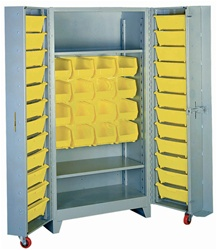 1126 Deep Door Cabinet with Tilt-Bins | Lyon Shelving and Workspace Products from Steel Shelving USA