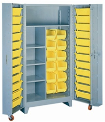 1128 Deep Door Cabinet with Tilt-Bins | Lyon Shelving and Workspace Products from Steel Shelving USA
