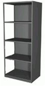 3005-3 Borroughs Closed Style Steel Add-On | Borroughs Shelves and Accessories from Steel Shelving USA