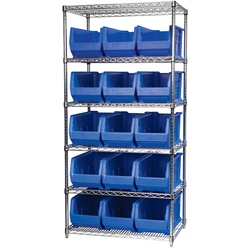 Wire Shelving with Super-Size AkroBins