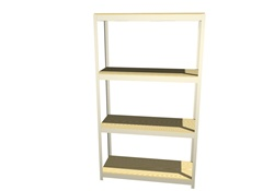 "B4818DR47 Boltless Shelving 48""Wx18""Dx7'High with 4 Levels 