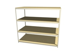 "B9636CH47 Boltless Shelving 96""Wx36""Dx7'High with 4 Levels 