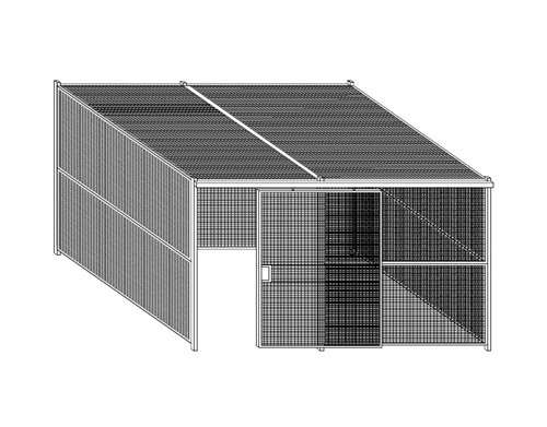 Wire Security Cage | 10104crw Wirecrafters Welded Wire 4 Sided Security Cage With Ceiling