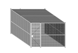 WireCrafters Woven Wire Partitions with Ceiling