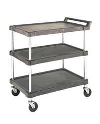 J16UC3 Olympic Polymer 3 Shelf Utility Cart | Olympic Wire Shelving from Steel Shelving USA