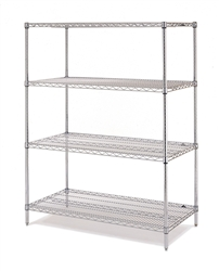 "J2460-63C Chrome Wire Shelving Unit 63""High 