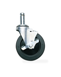 Swivel Caster with Brake - Resillient Rubber